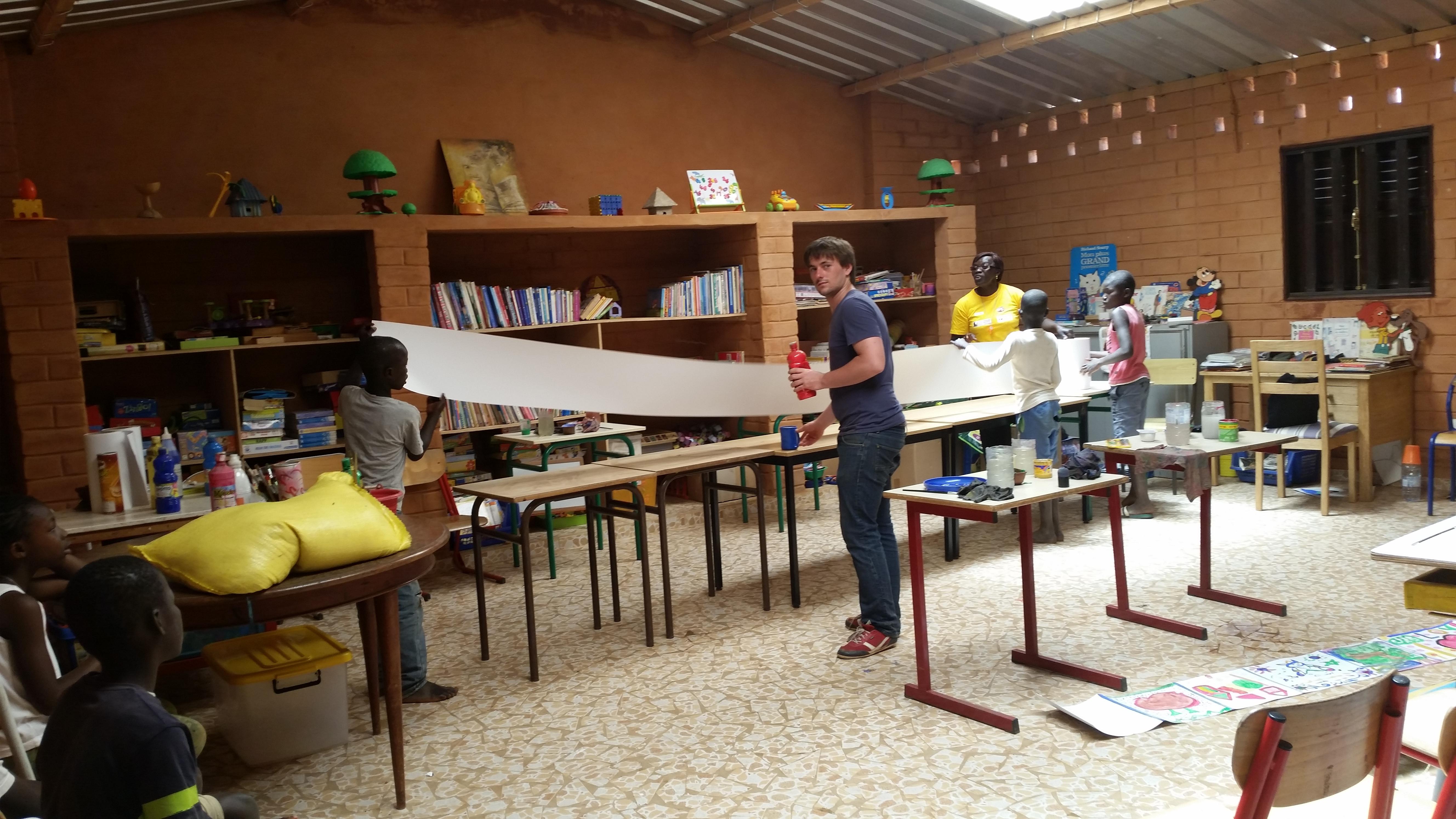 classe atelier avec enfants
