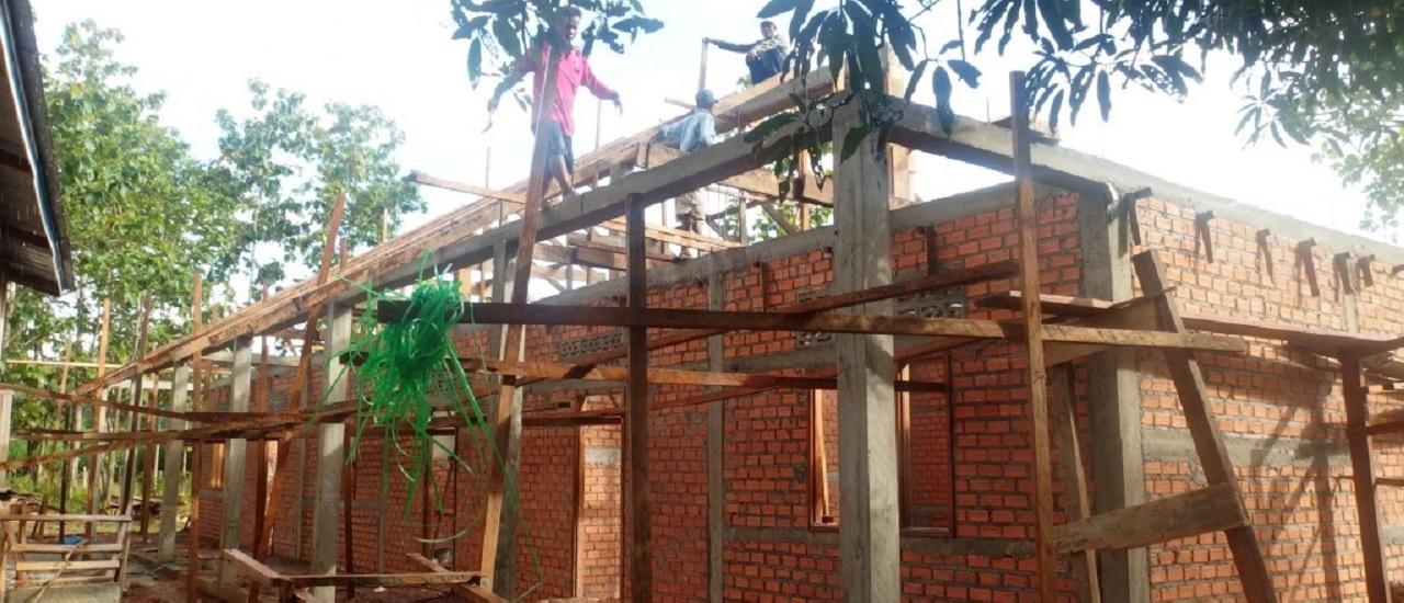 en pleine construction de la nouvelle école