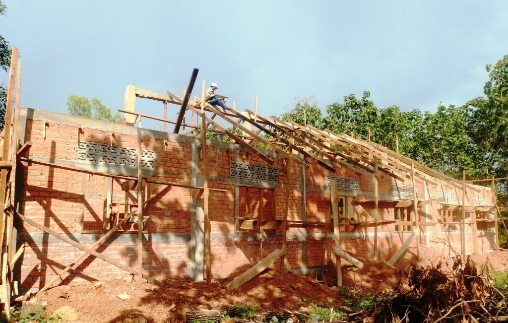 construction de la nouvelle école